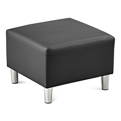 Riverside Solid Fabric or Faux Leather Ottoman, 53651