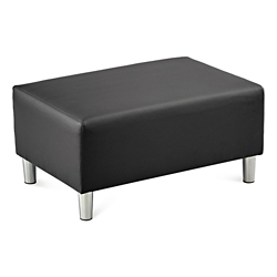 Riverside Solid Fabric or Faux Leather Double Ottoman, 53652