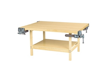 """Four Person Maple Workbench with Four Vices - 54"""" x 64"""", 92178"""