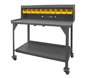 "Mobile Industrial Workbench with Riser - 60""W x 30""D, 46297"