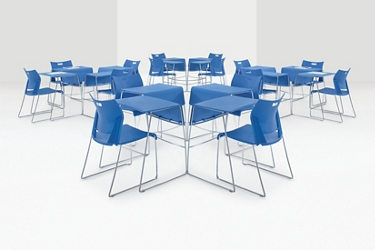 Collaborative Classroom Desk and Chair Set, 45113