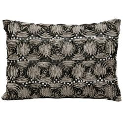 "kathy ireland by Nourison Rose Pattern Rectangular Pillow - 14"" x 10"", 82259"