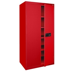 "72""H Storage Cabinet with Keyless Electronic Lock, 31773"