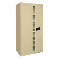 "78""H Storage Cabinet with Keyless Electronic Lock, 31774"