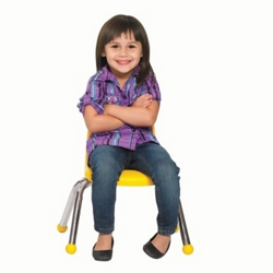"Child-Sized Stack Chair with Ball Glides - 10""H Seat, 51531"
