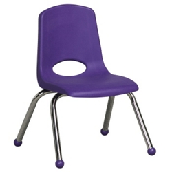 "Child-Sized Stack Chair with Ball Glides - 14""H Seat, 51533"