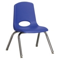 "Child-Sized Stack Chair with Swivel Glides - 12""H Seat, 51536"