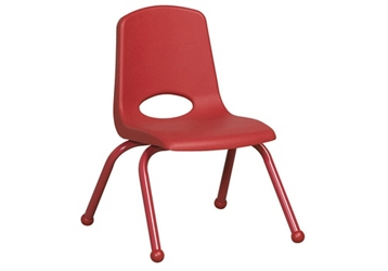 "Stack Chair with Matching Legs and Ball Glides 12""H Seat, 51622"