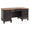 "Two Tone Executive Desk - 66""W, 14254"
