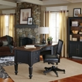 Bowfront Two Tone Half Pedestal Desk Grouping, 86061