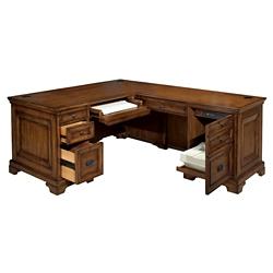 "Double Pedestal Right L-Desk - 66""W, 14262"