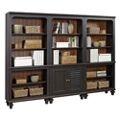 "Bookcase Wall with Two Doors - 79""H, 32174"