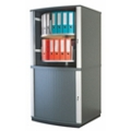 Locking Tambour Door Binder Carousel - 4 Tiers, 36677