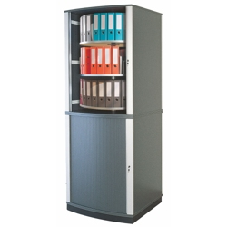 Locking Tambour Door Binder Carousel - 6 Tiers, 36679