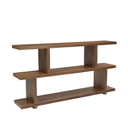 "Three Shelf Small Bookcase Walnut - 33""H, 33087"