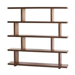 "Five Shelf Large Bookcase Walnut - 63""H, 33080"