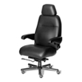 24/7 Big and Tall Chair with Headrest in Italian Leather, 50923