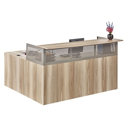 At Work Reception L-Desk with Reversible Return, 46445