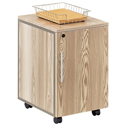 At Work Mobile Storage Pedestal in Warm Ash, 31105
