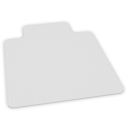 "Low Pile Chair Mat 45""W x 53""D with Lip for Carpet Floors, 54388"