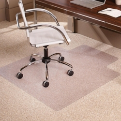 "Low Pile Chair Mat 36""W x 48""D with Lip for Carpet Floors, 54387"