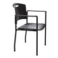 Plastic Back Stacker with IC+ Seat Upholstery, 21240