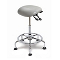 Large Seat Polyurethane Sit-Stand Stool with Glides and No-Slip Strip, 21249