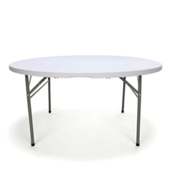 "Round Center Folding Table - 60""DIA, 46898"