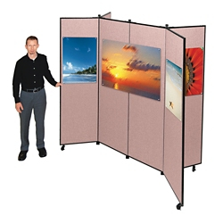 "Six Panel Display Tower - 7'3""W x 6'6""H, 21477"