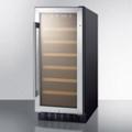Slim Glass Door Bottle Refrigerator, 87394