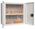 """Wall Mounted Medical Storage Cabinet with Digital Card Reader 27""""H, 26662"""