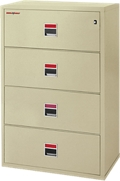 "Four Drawer Fireproof Lateral File - 38""W, 34005"