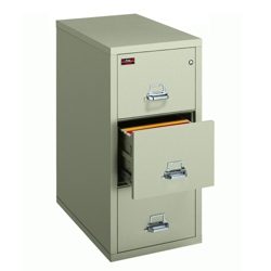 Two-Hour Rated Fireproof Three Drawer Vertical Letter File, 34305
