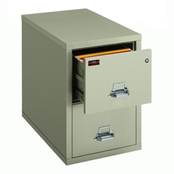 Two-Hour Rated Fireproof Two Drawer Vertical Letter File, 34307