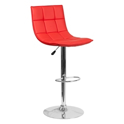Quilted Vinyl Barstool, 50946