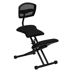 Kneel Chair with Mesh Back and Glides, 56630