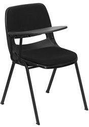 Tablet Arm Chair with Fabric Seat and Back, 82958