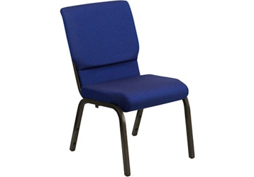 "Fabric Wing-Back Church Chair - 18.5""W, 82955"
