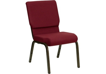 "Fabric Wing-Back Church Chair - 18.5""W, 82956"