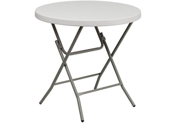 "Plastic Folding Table - 32""DIA, 46776"
