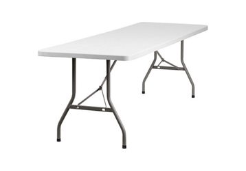 "Plastic Folding Table - 30"" x 96"", 46782"