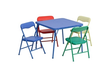Child-Size Square Folding Table with Four Folding Chairs, 46785