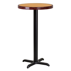 "Bar Height Table with X Base - 24""DIA, 44322"