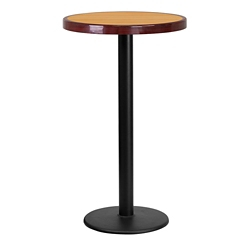 "Bar Height Table with Round Base - 24""DIA, 44323"