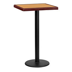 "Bar Height Table with Round Base - 24""W x 24""D, 44327"