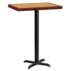 "Bar Height Table with X-Base - 30""W x 24""D, 44328"