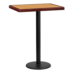 "Bar Height Table with Round Base - 30""W x 24""D, 44329"