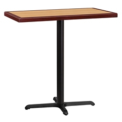 "Bar Height Table with X-Base - 42""W x 24""D, 44332"