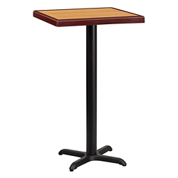 "Bar Height Table with X-Base - 24""W x 24""D, 44337"