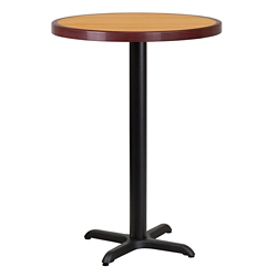 "Bar Height Table with X Base - 30""DIA, 44338"